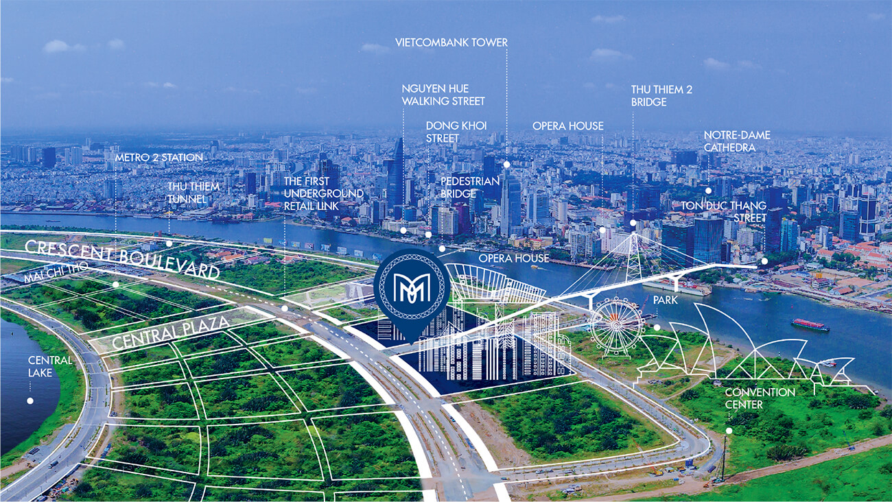 Vị trí The Metropole Thủ Thiêm Quận 2