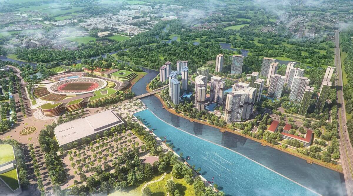 Phối cảnh phân khu 2 Saigon Sports City