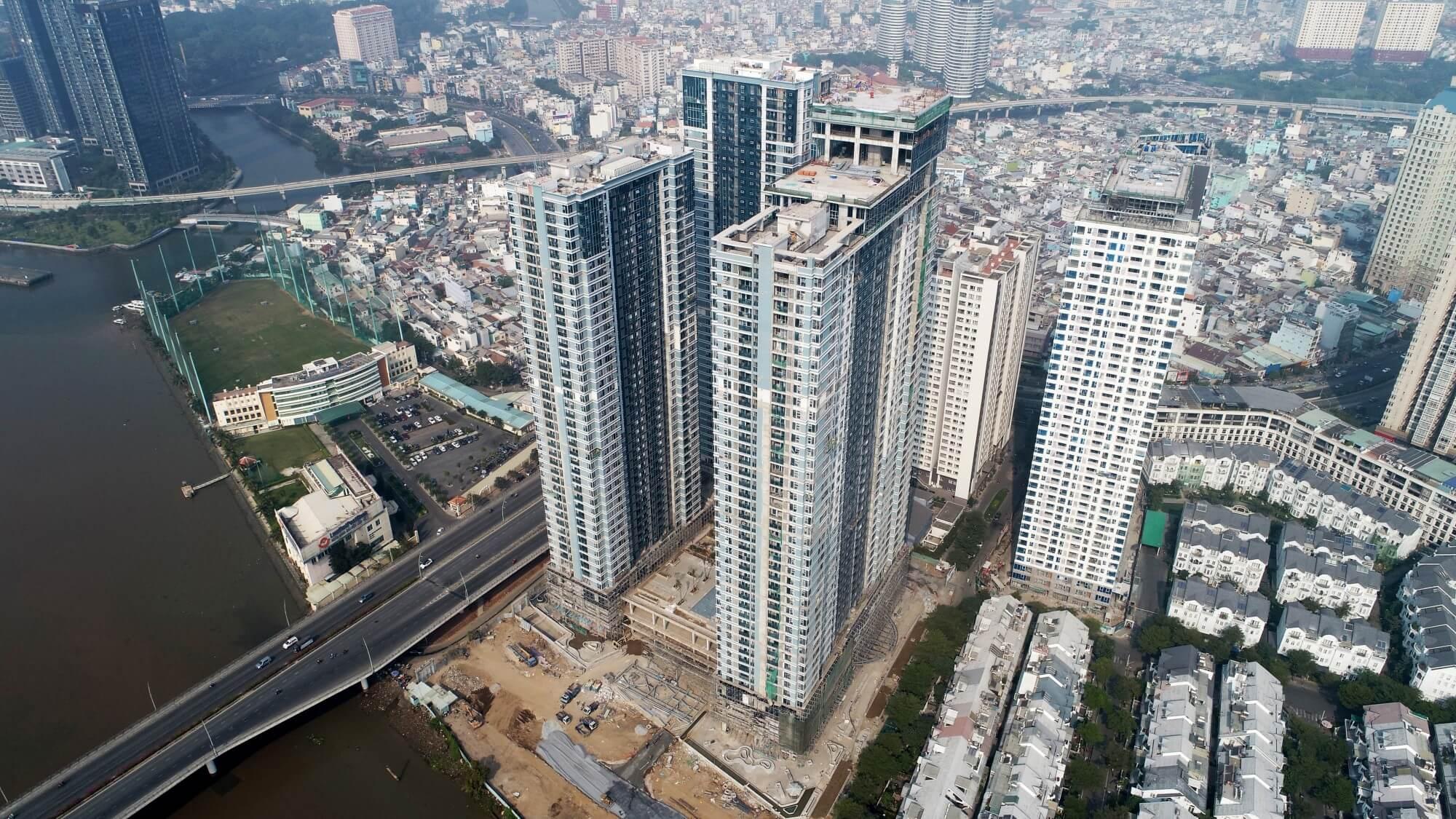 Tiến độ xây dựng Dự án căn hộ Sunwah Pearl Quận Bình Thạnh
