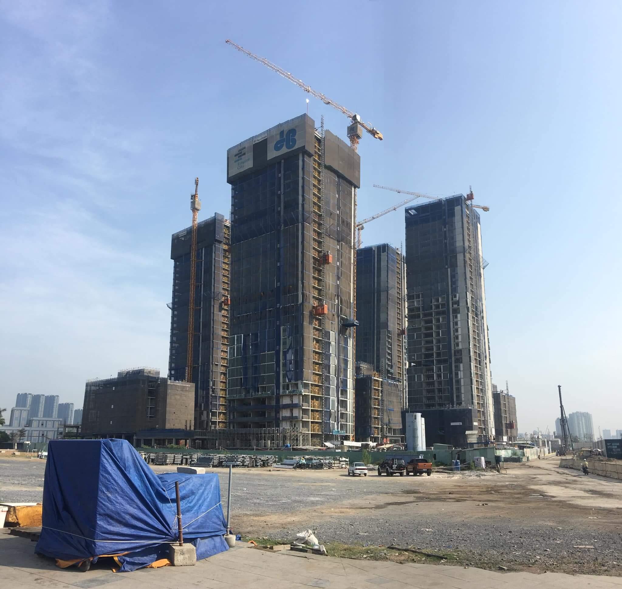 Tiến độ xây dựng Empire City Thủ Thiêm Quận 2