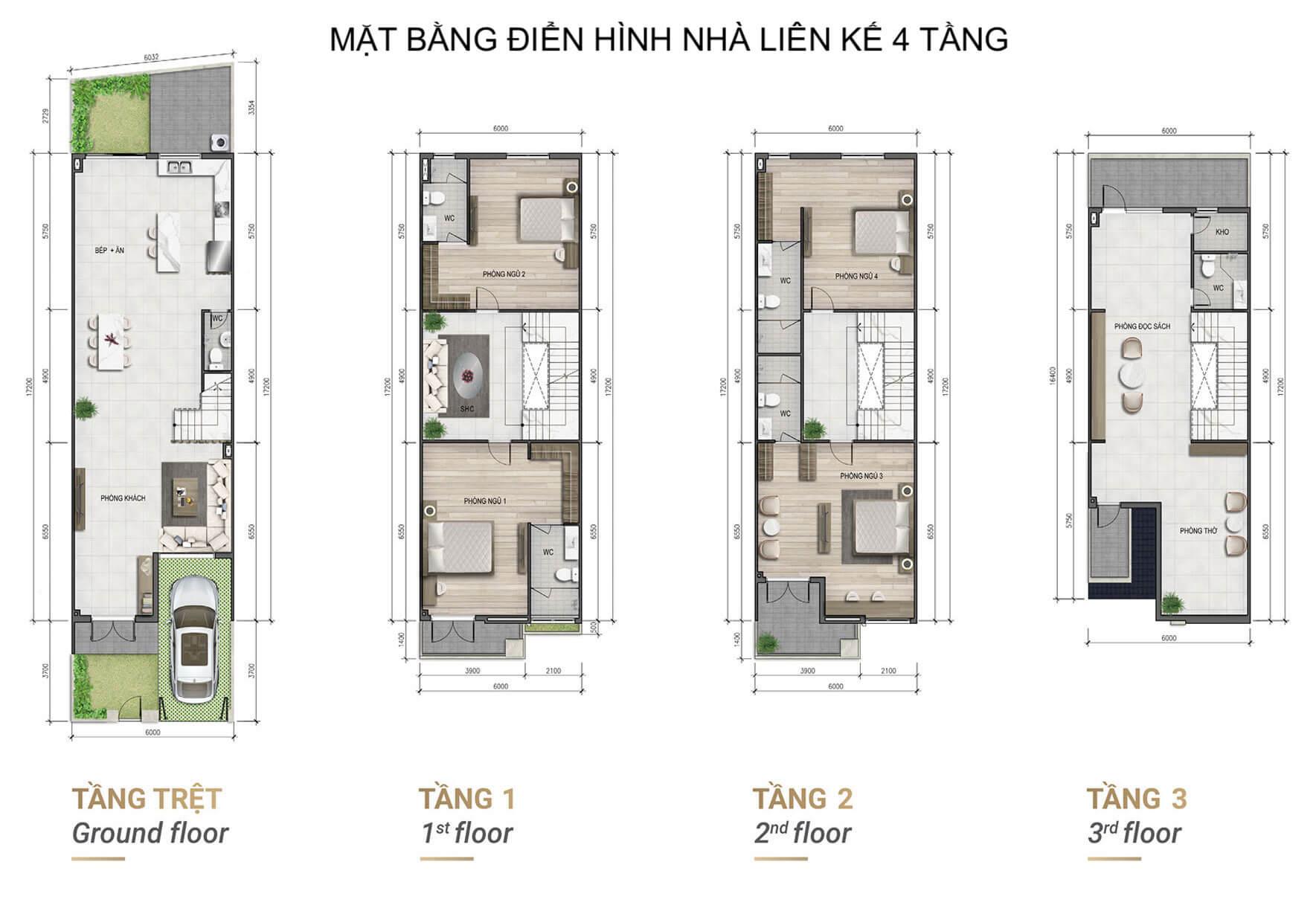 Mặt bằng nhà phố Verosa Park Khang Điền Quận 9