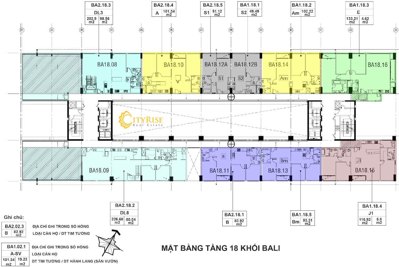 Layout tháp Bali căn hộ New City Thủ Thiêm Quận 2